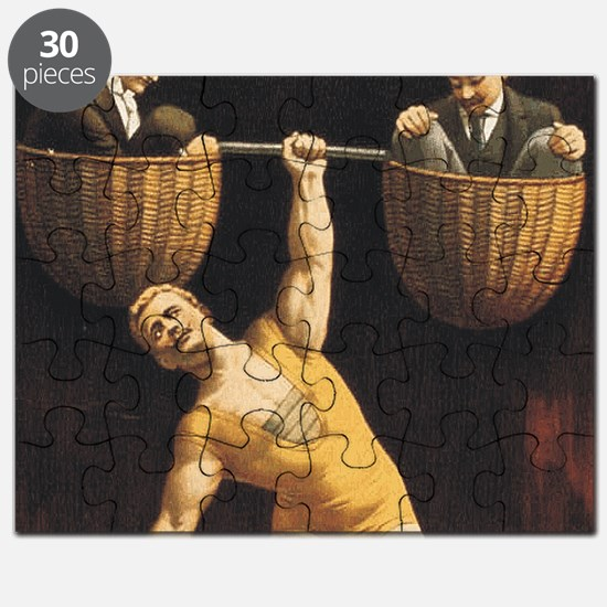 Weightlifting Old School Puzzle