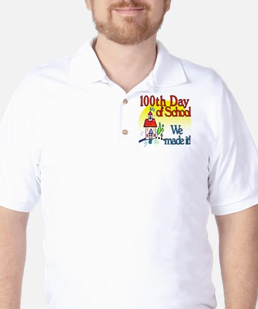 100th Day Schoolhouse Golf Shirt