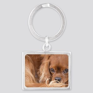 Sweet Friend Ruby Cavalier King Landscape Keychain
