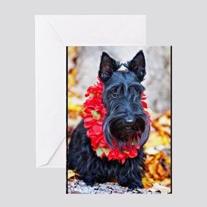Funny scottish birthday greeting cards cafepress hawaiian scottie dog greeting card m4hsunfo