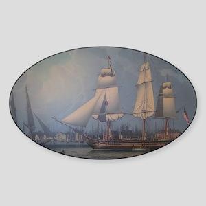 Wharves of Boston Sticker (Oval)