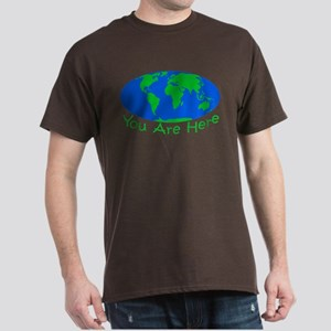 Earth Day You Are Here Dark T-Shirt
