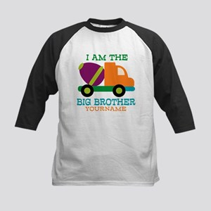 Cement Mixer Big Brother Kids Baseball Jersey