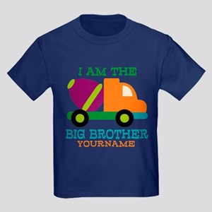 Cement Mixer Big Brother Kids Dark T-Shirt
