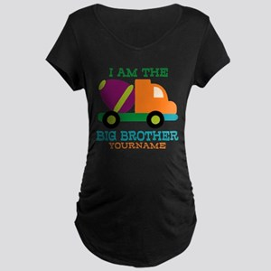 Cement Mixer Big Brother Maternity Dark T-Shirt