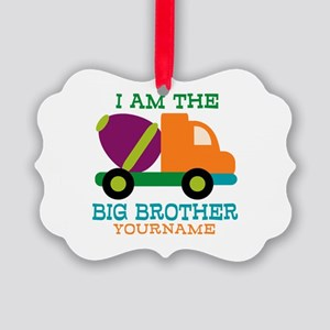 Cement Mixer Big Brother Picture Ornament