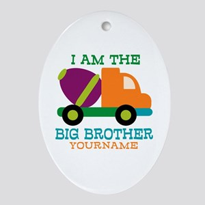 Cement Mixer Big Brother Ornament (Oval)