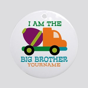 Cement Mixer Big Brother Ornament (Round)