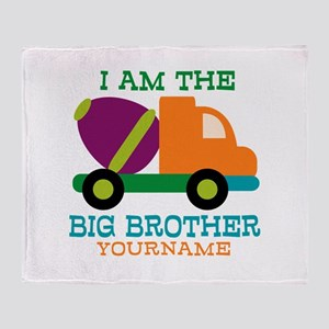 Cement Mixer Big Brother Throw Blanket