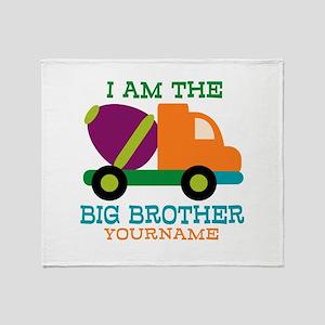 Cement Mixer Big Brother Throw Blanket