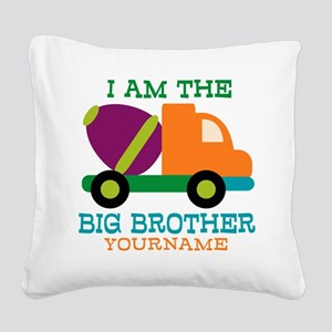 Cement Mixer Big Brother Square Canvas Pillow