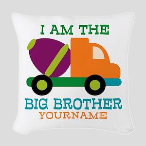Cement Mixer Big Brother Woven Throw Pillow