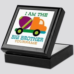 Cement Mixer Big Brother Keepsake Box