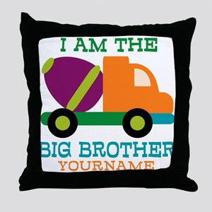 Cement Mixer Big Brother Throw Pillow