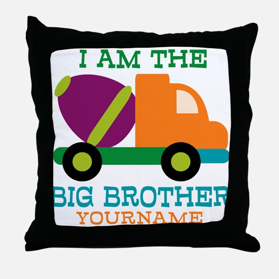 Cement Mixer Big Brother Throw Pillow