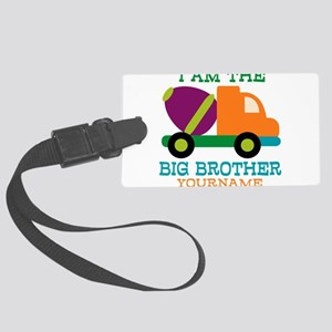 Cement Mixer Big Brother Large Luggage Tag