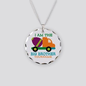 Cement Mixer Big Brother Necklace Circle Charm
