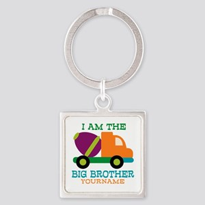 Cement Mixer Big Brother Square Keychain