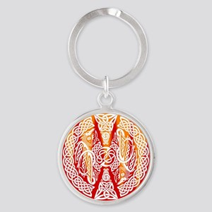 Celtic Dragons Fire Keychains