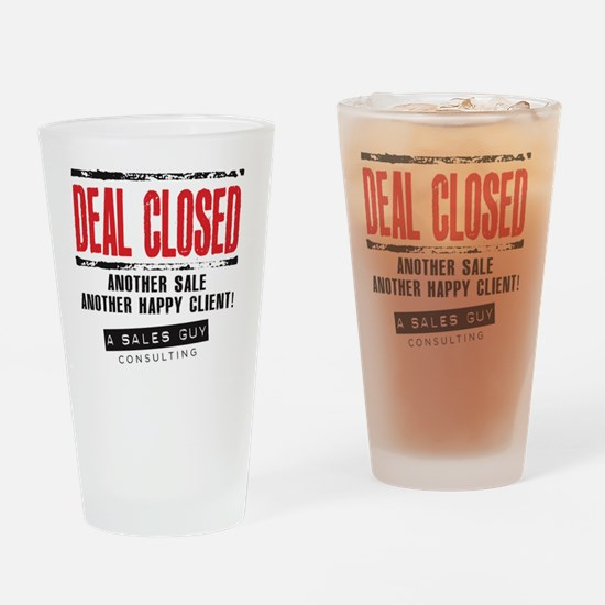 Deal Closed Drinking Glass
