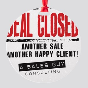 Deal Closed Round Ornament