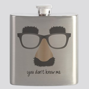 disguise nose glasses Flask