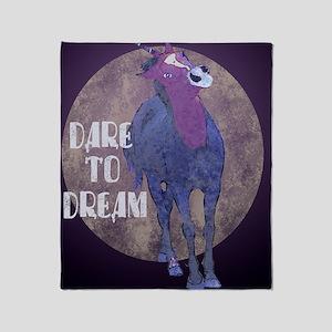 Dare to Dream Unicorn Throw Blanket