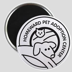 Homeward Pet Round Black/White Logo Magnet