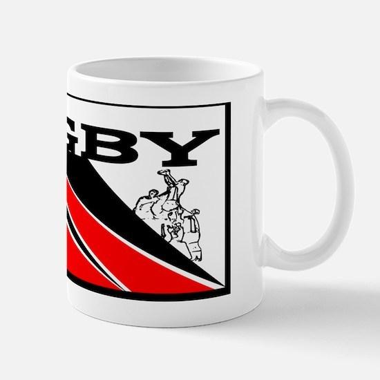 Rugby Line Out Red Black Mug