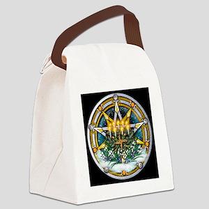 Imbolc Sabbat Pentacle Canvas Lunch Bag