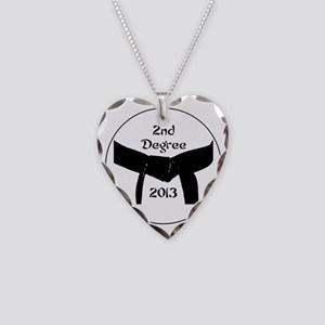 Martial Arts 2nd Degree Black Necklace Heart Charm