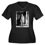 Lee portrait Women's Plus Size V-Neck Dark T-Shirt