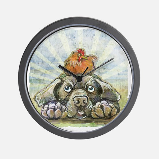 The Chicken and the Dog Wall Clock