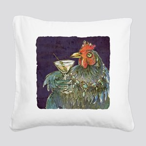 Martinis anyone? Square Canvas Pillow