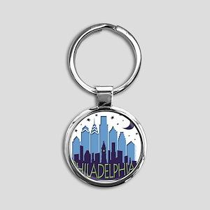 Philly Skyline Mega Cool Round Keychain