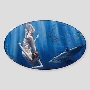Mermaid Adventure Sticker (Oval)
