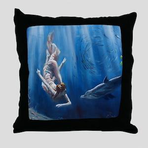 Mermaid Adventure Throw Pillow