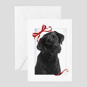 Black Lab Christmas Greeting Cards