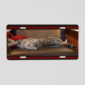 Smug Cat Aluminum License Plate