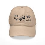 Bang My Bongos Cap in Khaki or White