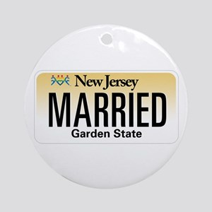 New Jersey Marriage Equality Ornament (Round)
