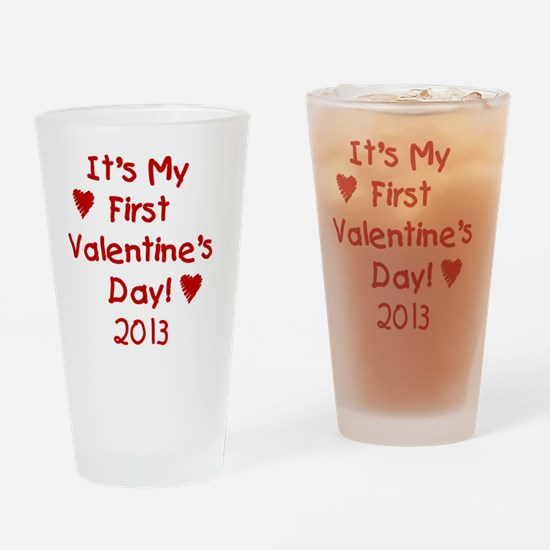 First Valentines Day 2013 Drinking Glass