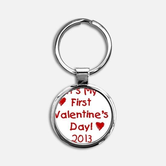 First Valentines Day 2013 Round Keychain