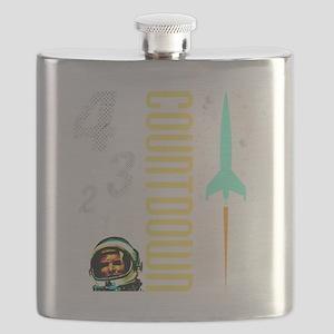 Countdown scifi vintage Flask