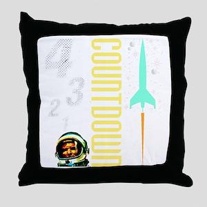 Countdown scifi vintage Throw Pillow