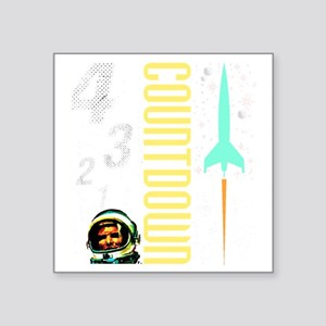 "Countdown scifi vintage Square Sticker 3"" x 3"""