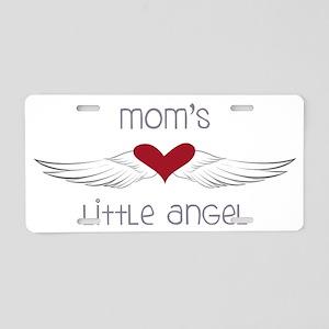 Mom's Little Angel Aluminum License Plate