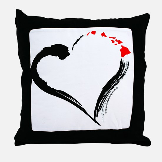I Love Hawaii Throw Pillow