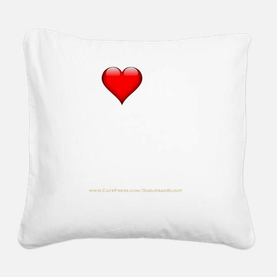 I Love My Swingers Group dark Square Canvas Pillow