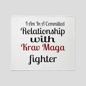 Relationship With Krav Maga Fighter Throw Blanket